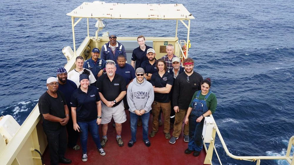 Group photo of Maersk Columbus crew